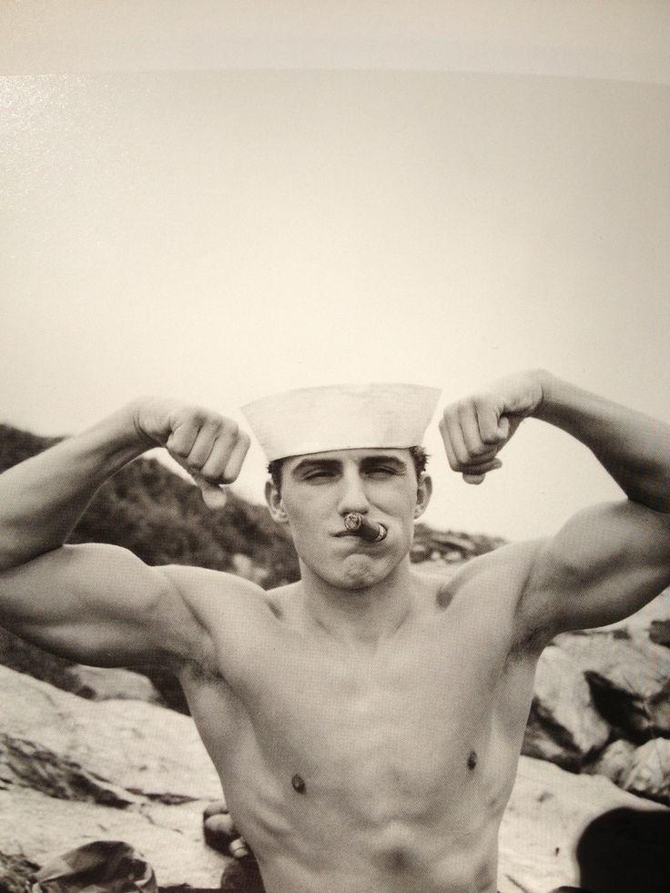 Sailor showing his pecs (please follow minkshmink on pinterest)  #sailor