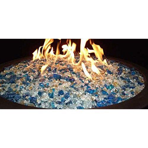 Fire Pit Glass 10 Lb Indoor Fireplace Outdoor Patio Gas Fire Pit Glass Fireglass #FireGlass