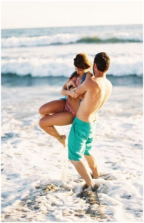 Cute summer couple... this is my dream proposal senario a fun, laughter filled day in the ocean and then bam outta nowhere hes on one knee!