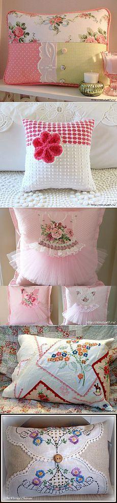 Декоративные подушки в разных стилях