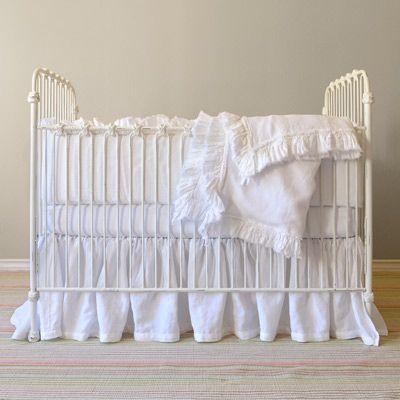 Matteo Tat and Vintage Linen Crib Set #projectnursery #franklinandben #nursery