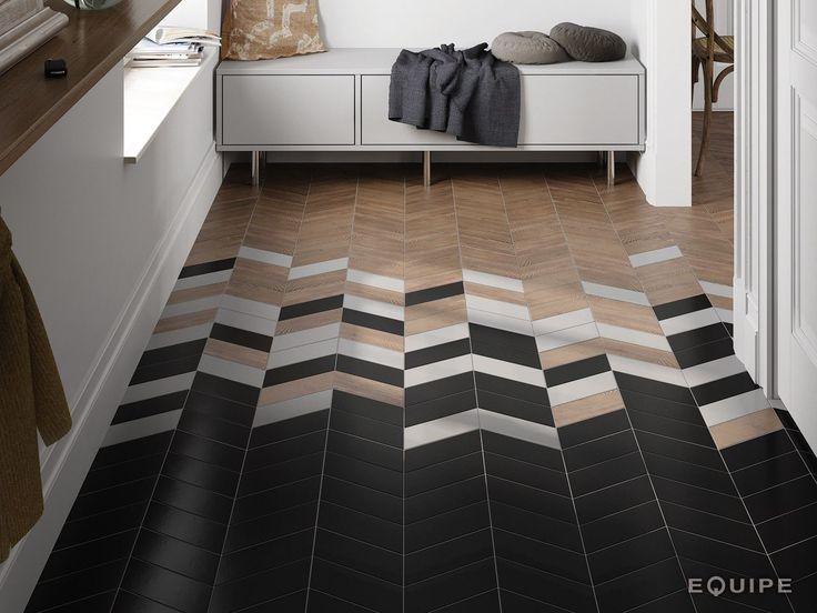 chevron wallfloor tiles by equipe ceramicas