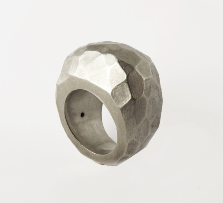 silver faceted ring (lost wax technique)