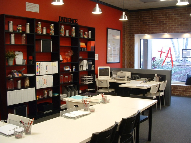 The organized office/workspace at Mathnasium of West Knoxville.