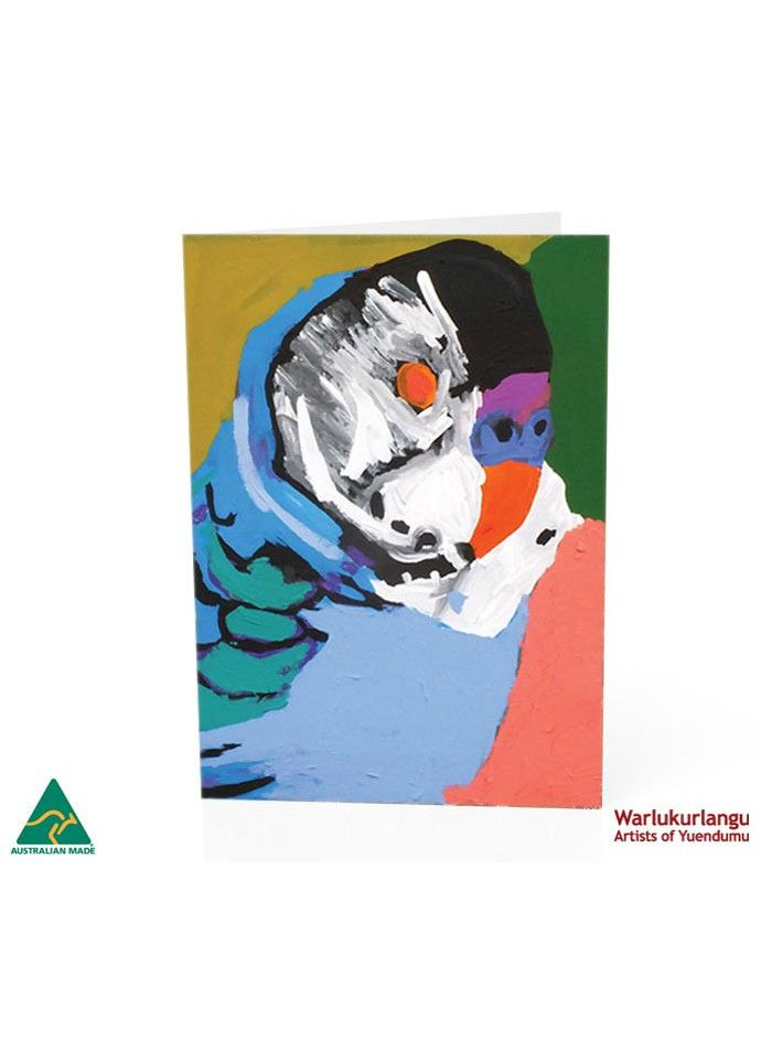Birds of Yuendumu  Art Card -  Budgerigar