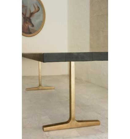 Great Brass Trestle Table Base