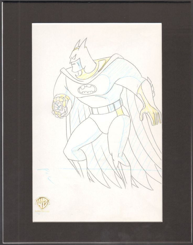 Batman The Animated Series Animation Production Drawing Warner Bro 2* by CharlesScottGallery on Etsy