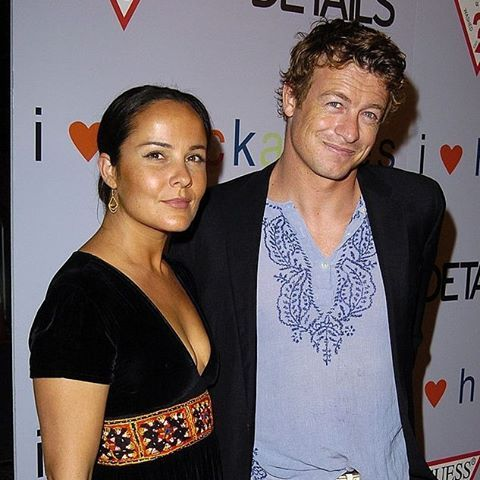 Simon Baker and Rebecca Rigg during 'I heart Huckabees' Los Angeles Premiere at The Grove in Hollywood, CA, September 22, 2004