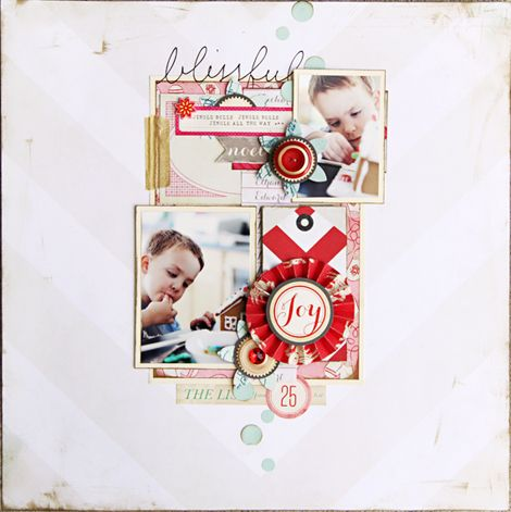 sweetScrapbook Ideas, December Daily, Layout Inspiration, Scrapbook Inspiration, Scrapbook Layout, Crate Paper, Crates Paper, Christine Middlecamp, Sleigh Riding