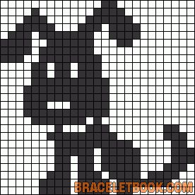 Made No. 184 Pattern: Puppy filet crochet baby blanket.