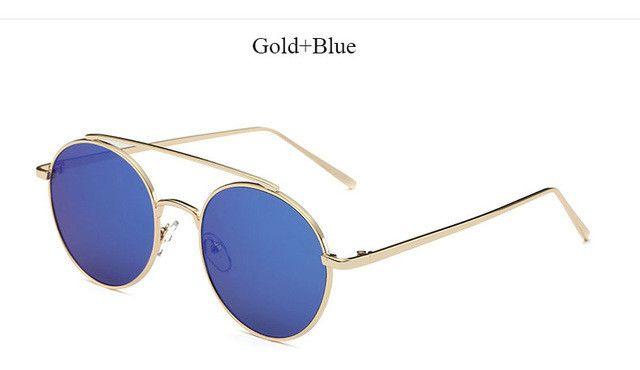 Round Mirror Sunglasses; Women Eyewear; Fashion Accessories; Retro Metal Frame UV400;