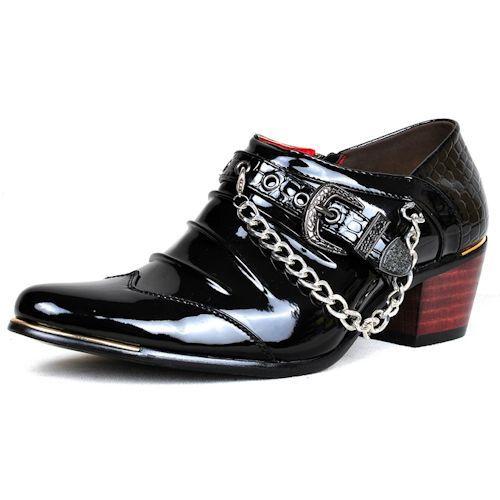 Black Patent Man Leather Shoes