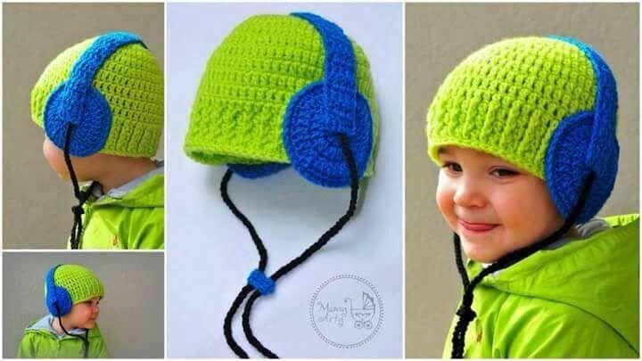 Crochet earphone hat..... need to find pattern