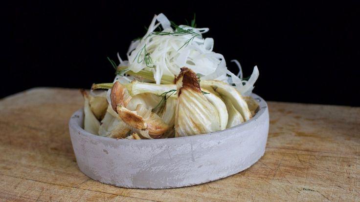 Bakt fennikel med sitron og appelsin