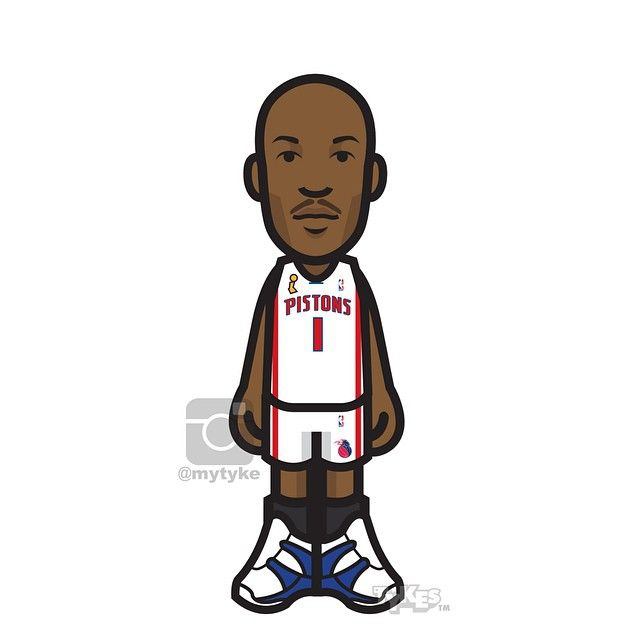 """Chauncey Billups Detroit Pistons Tyke. After 17 years in the NBA, """"Mr. Big Shot"""" is hanging up his sneakers. Playing most of his career with Detroit, starring for the Pistons from 2002 to 2008 -- including being named the 2004 NBA Finals MVP after leading the team to the title, Chauncey told Yahoo! Sports """"It's just time. I know when it's time."""" Best of luck to you CB! A true class act! #ThrowbackThursday#TBT #ChaunceyBillups #MrBigShot #DetroitPistons #basketball #NBA #tyke #tykes"""