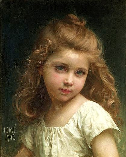 Jules-Cyrille Cavé (French, 1859-1940) A Parisian, Cave was a pupil of William-Adolphe Bouguereau and Tony Robert-Fleury. He was elected to the Salon of French Artists in 1886 and won bronze medals in 1889 and 1900 for genre scenes and floral still lifes.