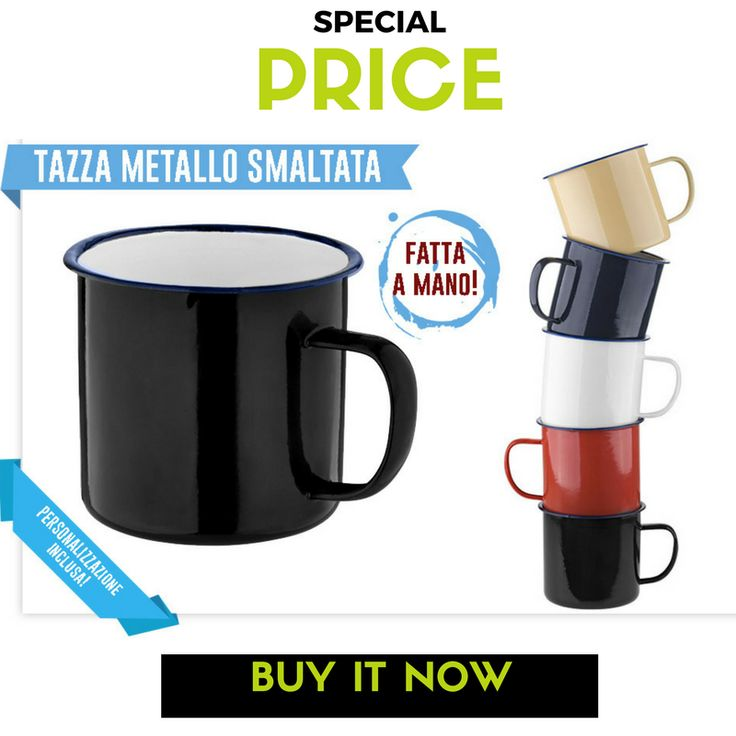 🌞🏖️🍹 Enamel #Mug - just customize it as you like! :) #specialprice until May, the 9th More: http://www.sadesign.it/it/promozione