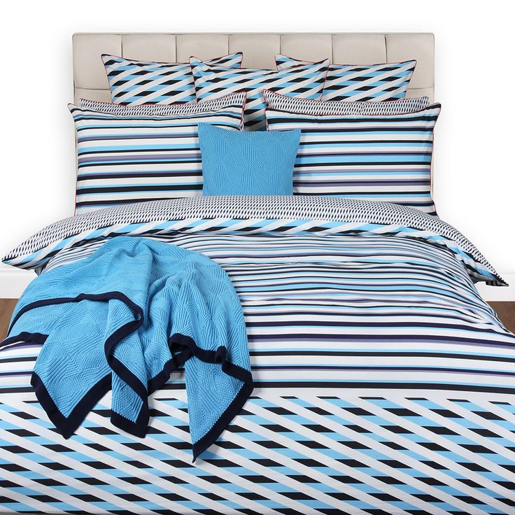Kenzo - Stripy Blue Bettbezug - Doppelt