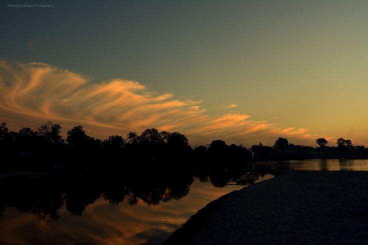 Dibrugarh Brahmaputra #sunset #photograPHY