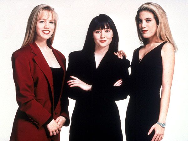 Shannen Doherty, Jennie Garth and Tori Spelling on Beverly Hills, 90210 in 1991