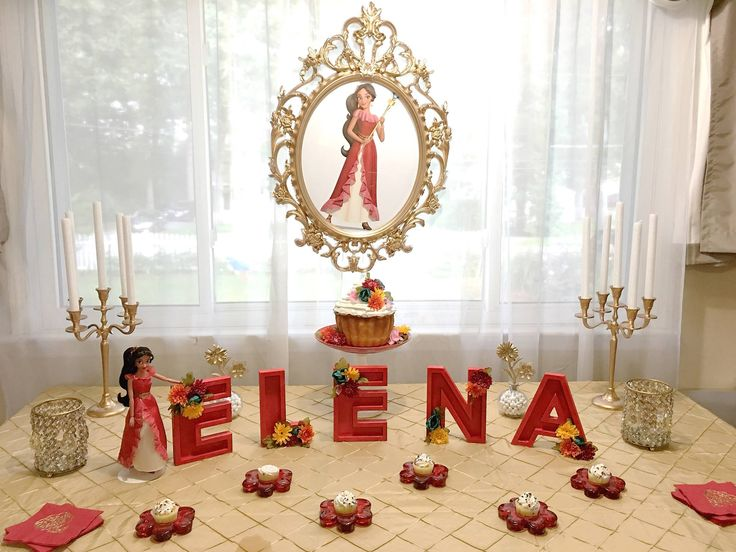 Cake Decorating Store Mesa : Elena of Avalor cake table Elena of Avalor Party Ideas Pinterest Latinas, Princesses and ...