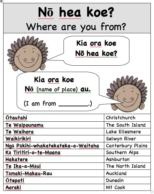 Springston Te Reo : Nō hea koe: Where are you from?