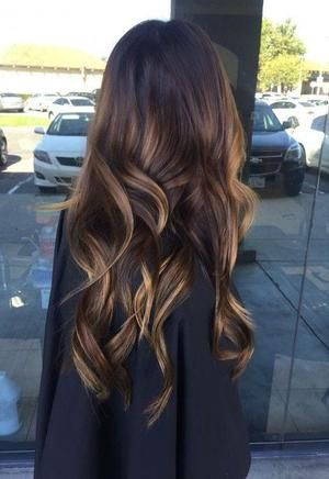 Premium Chestnut Brown mixed Dark Brown Balayage Remy Clip in Hair Extensions Double Weft