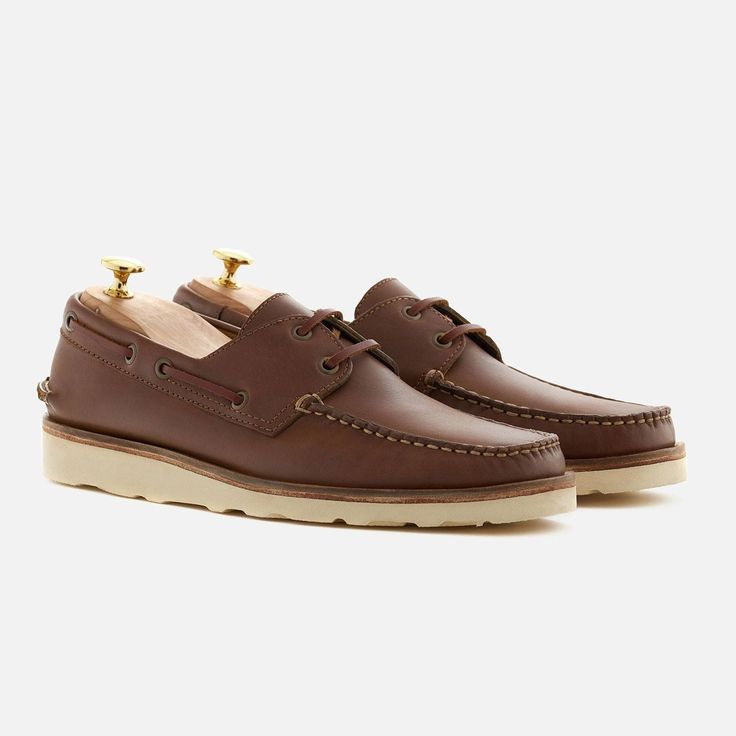 *SECONDS* Norton Boat Shoes - Pull-up Leather - Walnut
