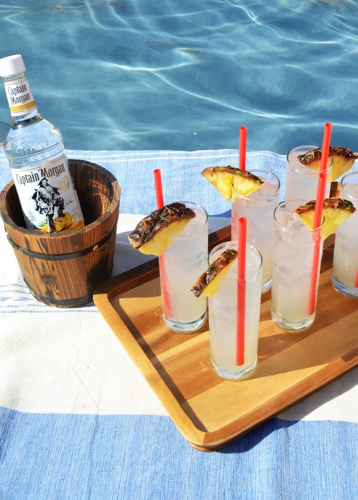 Poolside party time with the Captain! Amazing Captain Morgan Pineapple Rum recipe!