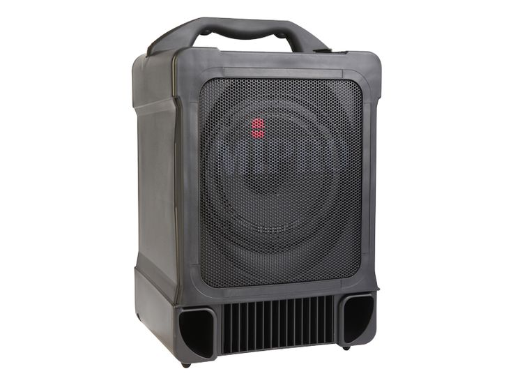 Mipro MA707 all-in-one portable PA, battery powered, includes wireless mic & receiver and CD player.