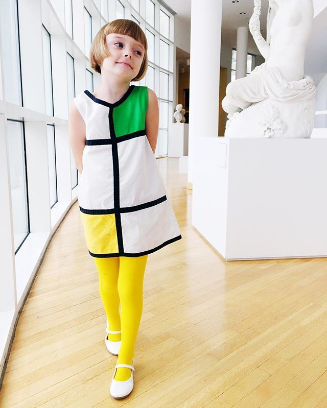 Mondrian chic at The High Museum {tights by @welovecolors}
