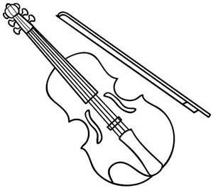 Desenhos para colorir - Colorir instrumentos musicais