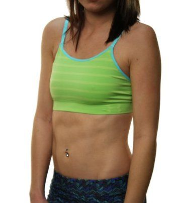 Under Armour Women's Seamless Construction Underwear Sports Bra Top Lime-Medium Under Armour. $27.97