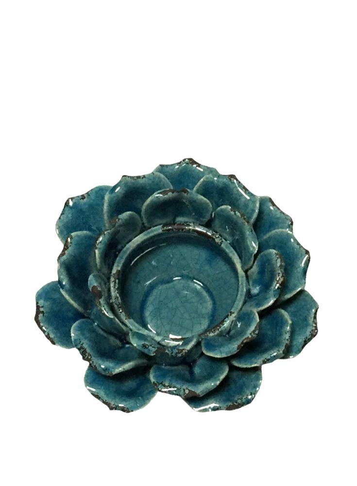 A Loja do Gato Preto | Taça Craclé Flor Azul #alojadogatopreto