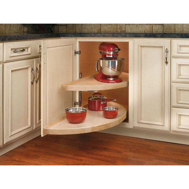 Rev-A-Shelf 38 in. Wood 2-Shelf Half Moon Lazy Susan-4WLS882-38-570 at The Home Depot