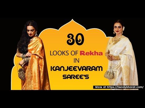 Rekha's looks in Kanjeevaram Saree