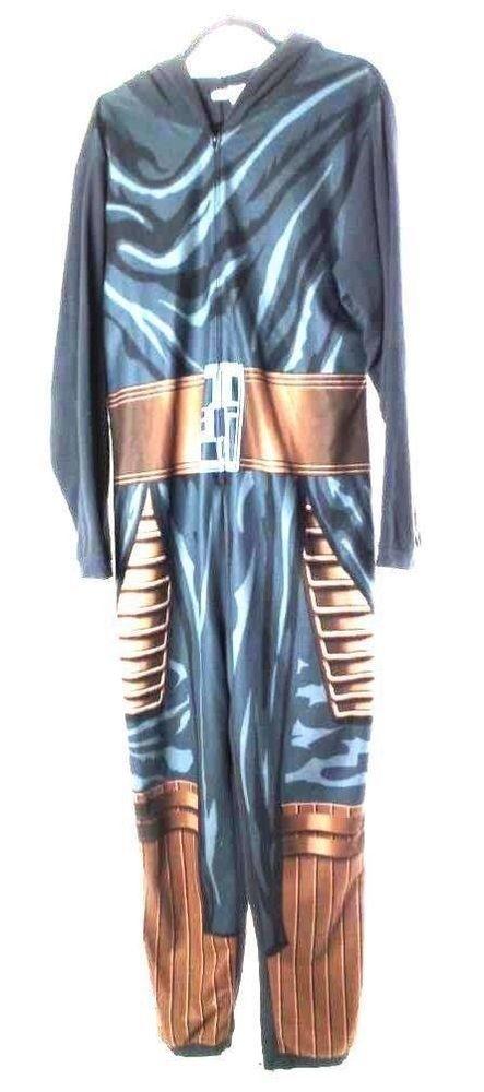 edd7f263ec8 Star Wars Size Large Hooded Black Bronze Long Sleeve All In One Pajama  Cosplay  fashion
