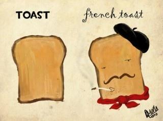 Różnica między klasycznym i francuskim tostem. :-)