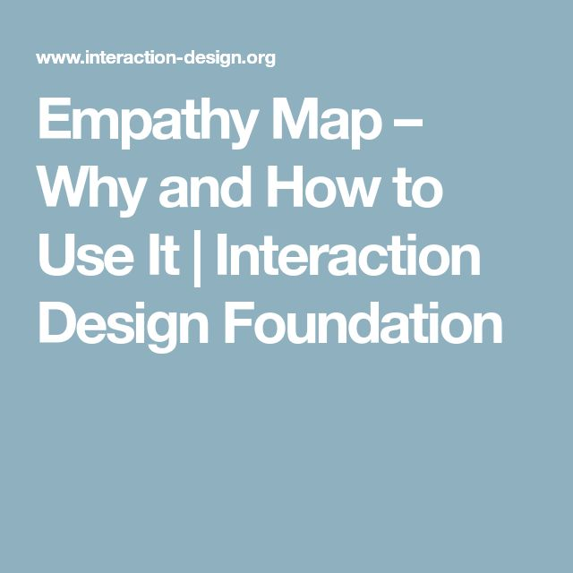 Empathy Map – Why and How to Use It | Interaction Design Foundation