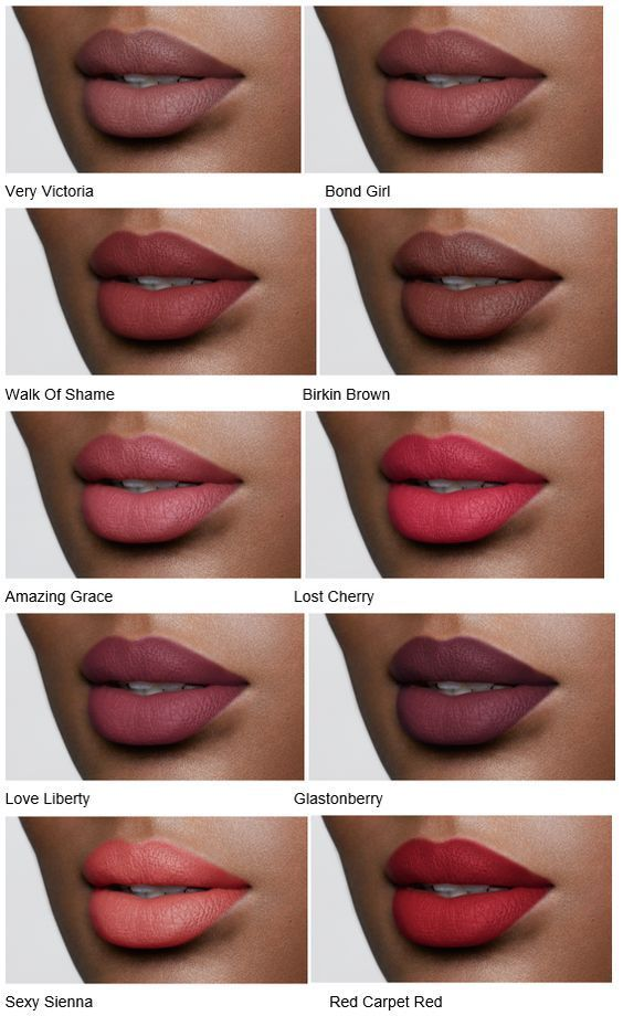 Lipstick on Dark Skin | Red Lips | Pink Lips | Brown Lips |