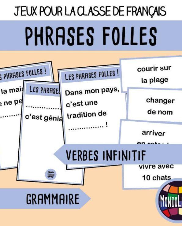 Jeu De Cartes Fle Mistigri Des Verbes Comprendre Apprendre Recevoir Devenir Mondolinguo Francais Jeu De Cartes Verbe Jeux De Grammaire
