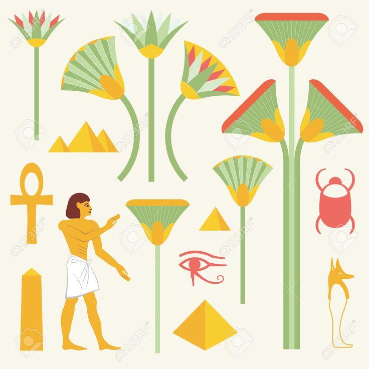 Symboles égyptiens Et Des Signes Clip Art Libres De Droits , Vecteurs Et Illustration. Image 53377462.