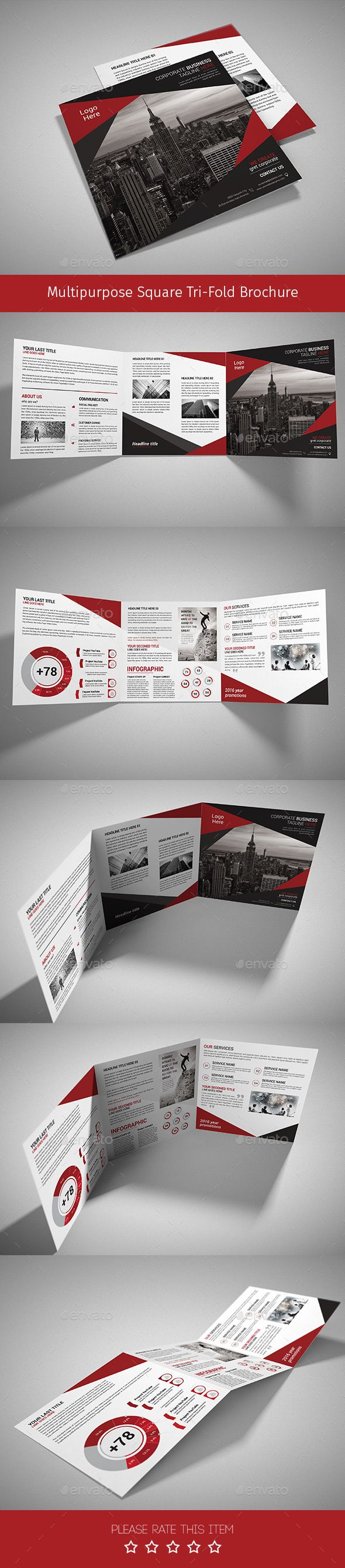 Corporate Tri-fold Square Brochure Template PSD. Download here: http://graphicriver.net/item/corporate-trifold-square-brochure-01/14558866?ref=ksioks