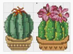Esquemas de cactus de punto de cruz