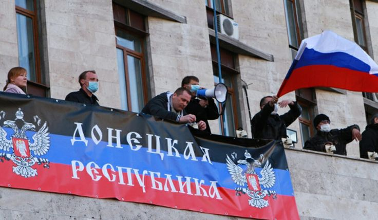 Legislature of just proclaimed Donetsk People's Republic asks Putin move in peacekeepers