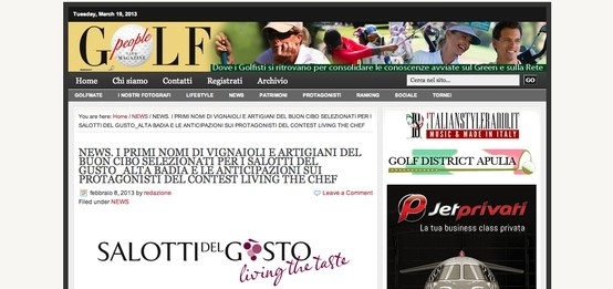 I Salotti del Gusto su Golf People Club Magazine http://www.golfpeople.eu/?p=51359