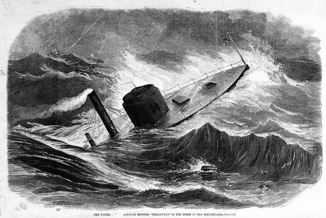 Monitor One This Day In History: The USS Monitor Sinks (1862)
