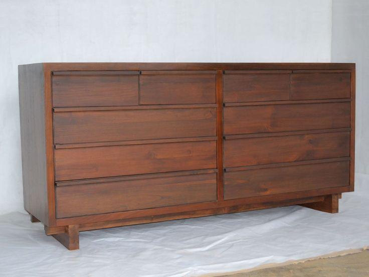 Reclaimed wood dresser 10 drawers full view. - Best 25+ Reclaimed Wood Dresser Ideas On Pinterest Used Pallets