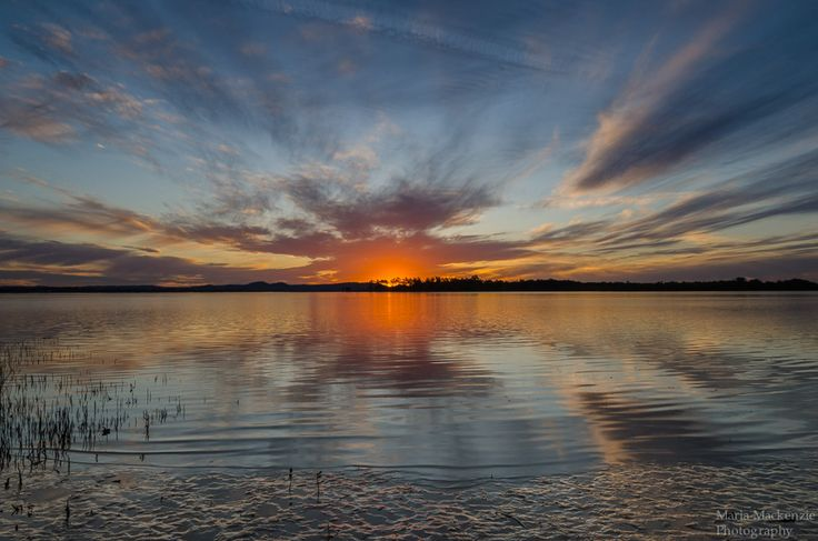 Sunset from another viewpoint of Clarence River in Iluka NSW.