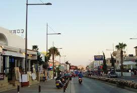 Ayia Napa street near Grecian Bay Hotel, Cyprus
